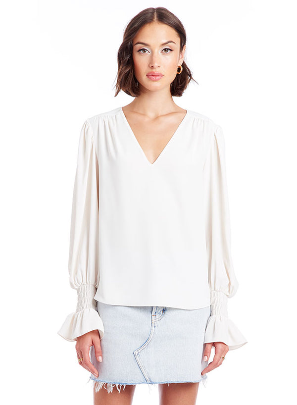 Amanda Uprichard - Cressida Top - Ivory