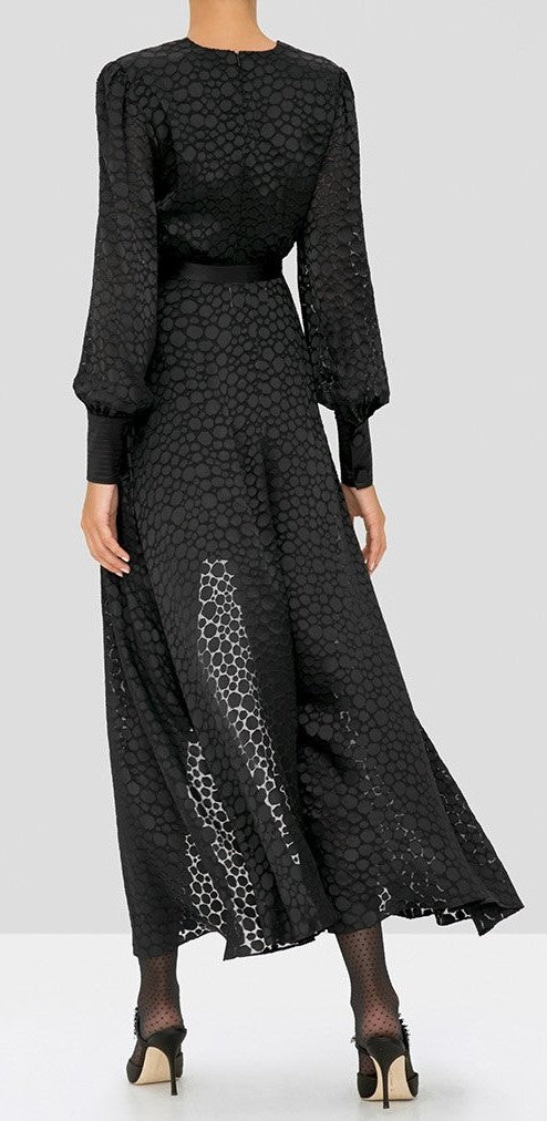 Alexis - Cordelia Dress - Black geometric