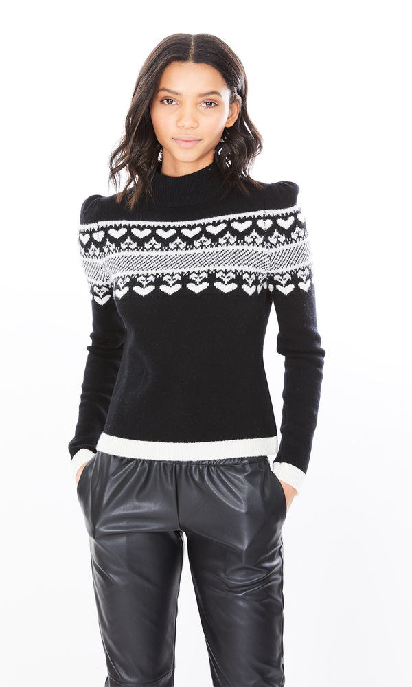 Generation Love - Charlie Cashmere Sweater - Black/White