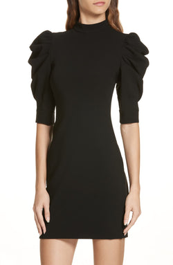 Alice + Olivia - Brenna Puff Sleeve Dress - Black