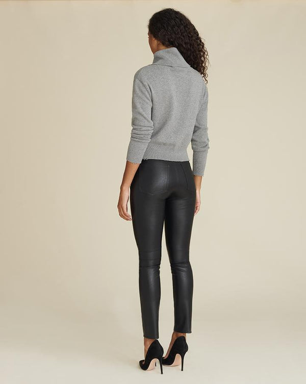 Veronica Beard - Debbie High Rise Skinny Vegan Leather - Black