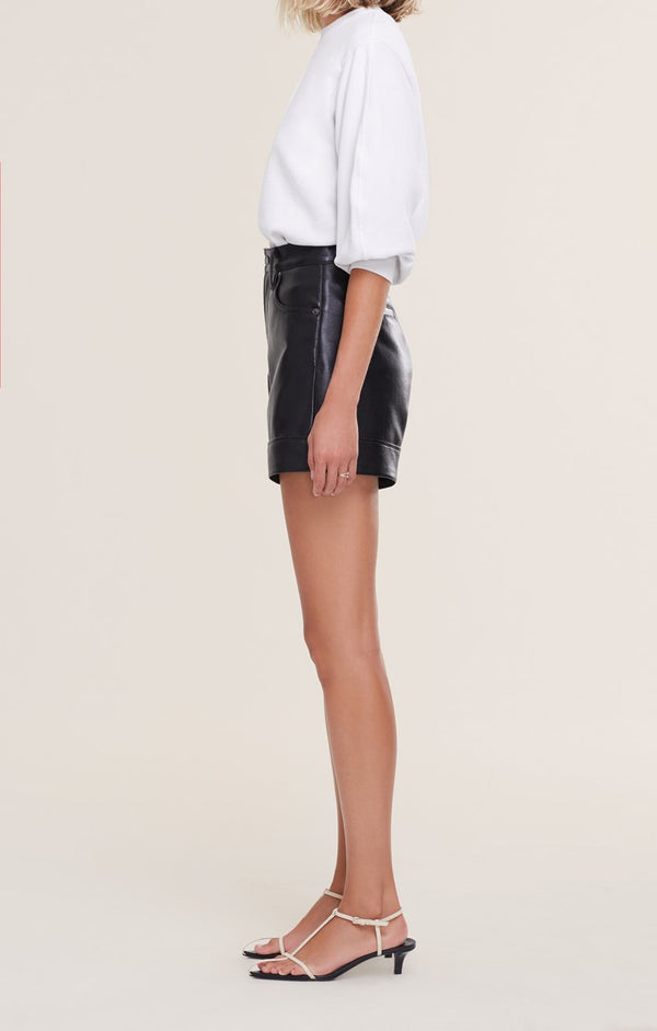 Agolde - Recycled Leather Angled Hem Short - Detox