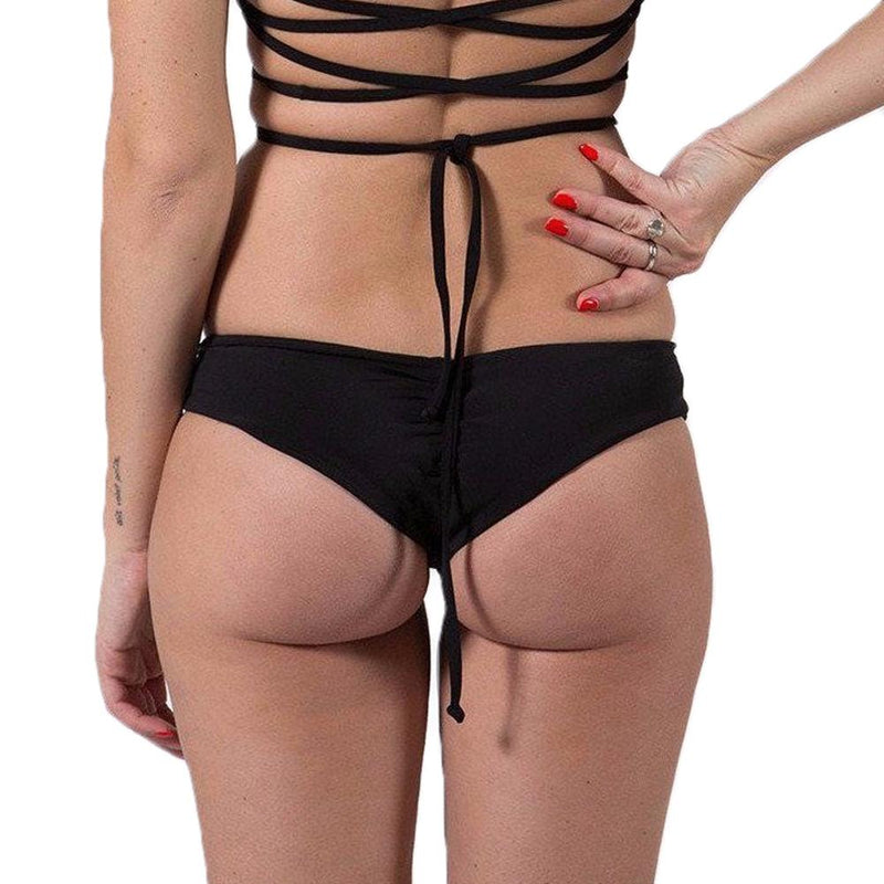 Donna Mizani - Ruched Hipster Bottom - Black