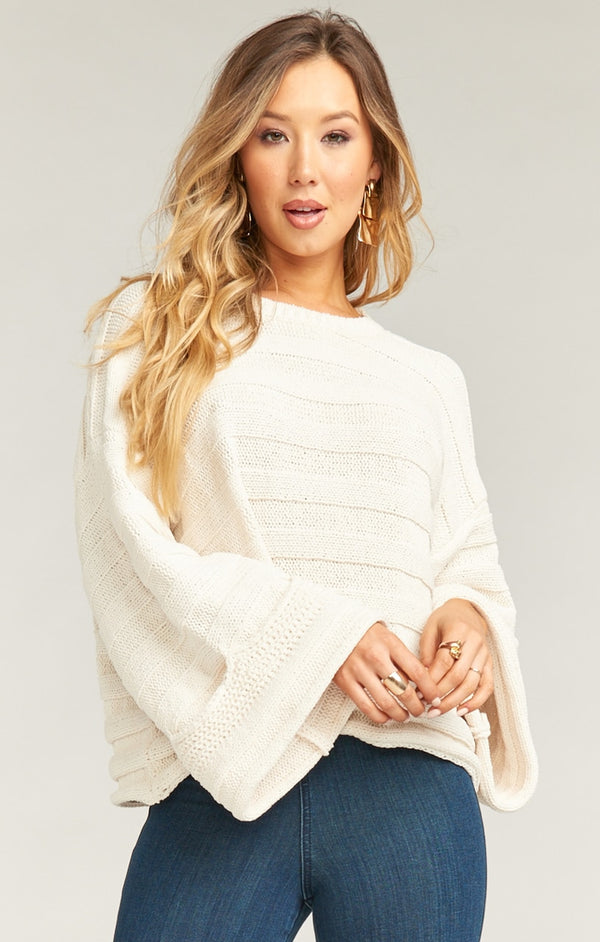 SHOW ME YOUR MUMU - TULSA SWEATER - CREAM STRIPE KNIT