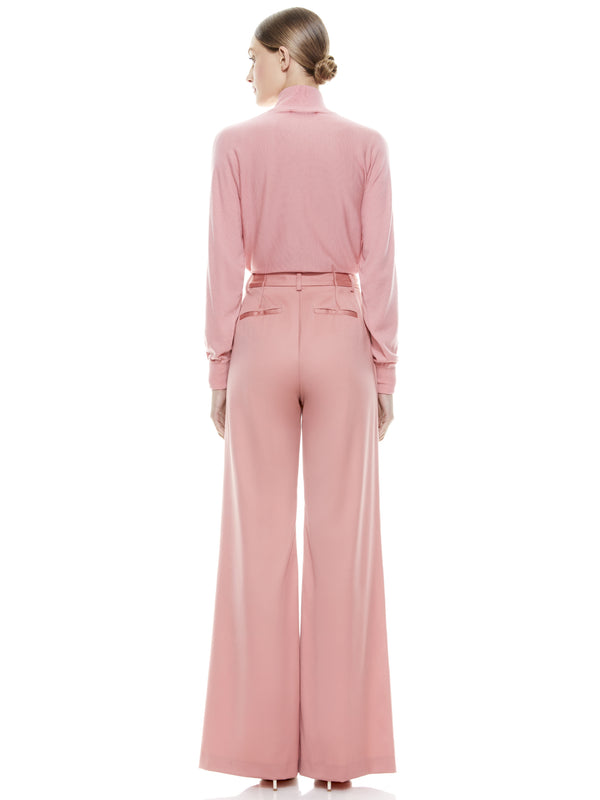 Alice + Olivia - Eric High Waisted Pant - Rose
