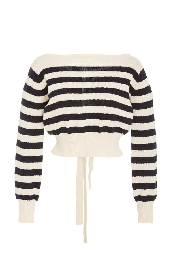 Faithfull the Brand - Love Lane Knit Sweater - Off White/ Navy Stripe