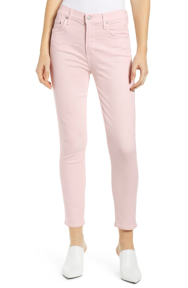 Citizens of Humanity - Rocket Crop High Rise Skinny Jeans - Rosewater