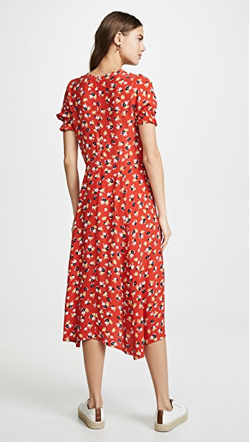 Faithfull The Brand - Ari Midi Dress - Red Jasmine Floral Print