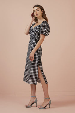 Finders Keepers - Picnic Dress - Black/ White