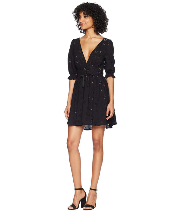 For Love & Lemons - Spring Eyelet Swing Dress - Black