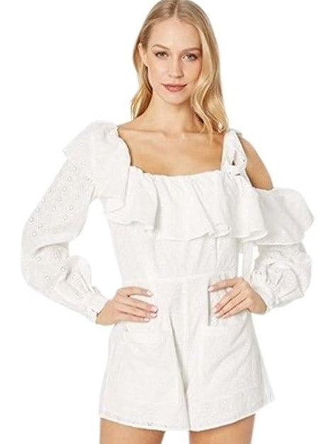 For Love & Lemons - Bora Bora Romper - White