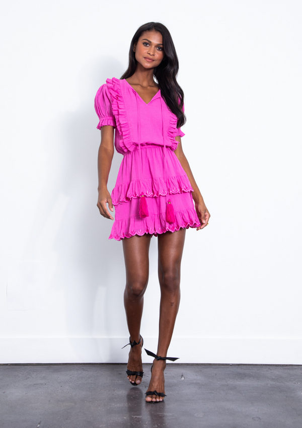 Karina Grimaldi - Francis Embellished Mini Dress - Pink