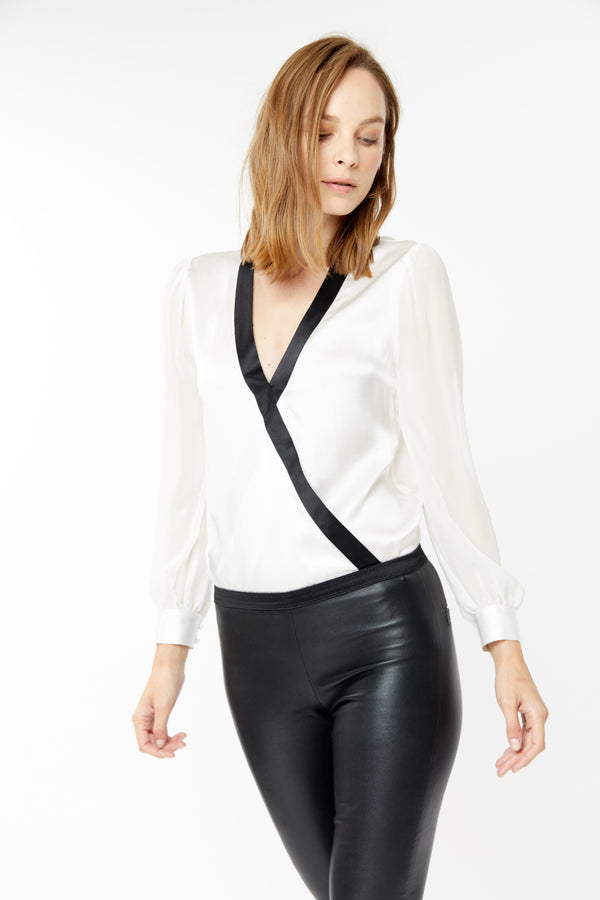 Generation Love - Henry Blouse - White/Black
