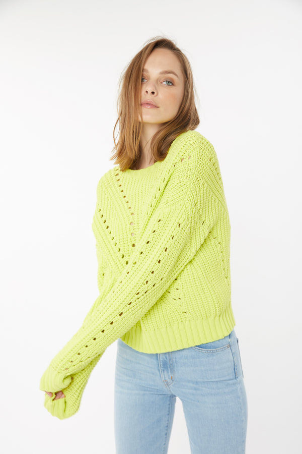 Generation Love - Nadia Perf Sweater - Yellow