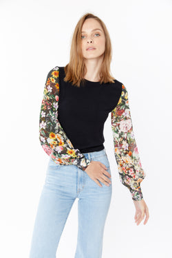 Generation Love - Noelle Floral Top - Black