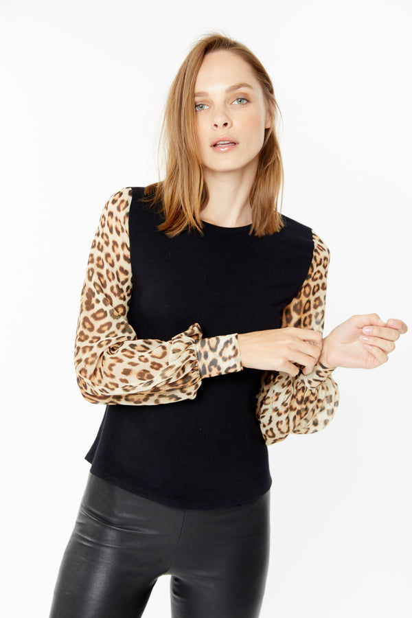 Generation Love - Noelle Leopard Top - Black