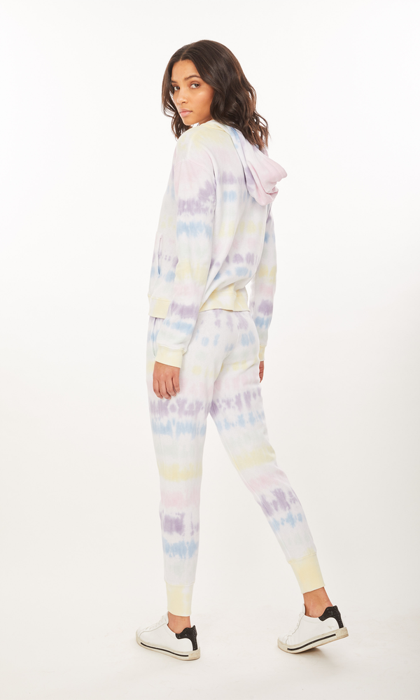 Generation Love - Gianna Smiley Hoodie - Pastel Tie Dye
