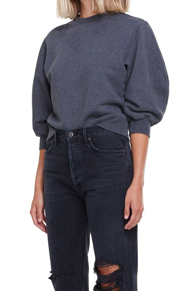 Agolde - Thora 3/4 Sleeve Sweatshirt - Graphite Heather