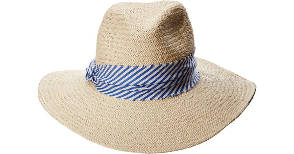 Hat Attack - The Harbor - Natural/Blue Stripe
