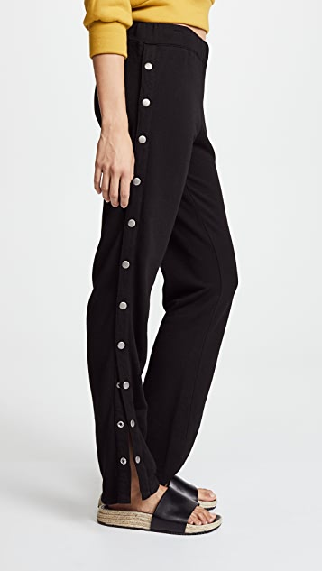 monrow - Relaxed snap pants - Black