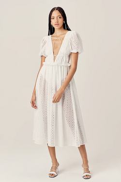 For love & lemons - cosmo maxi dress - WHITE