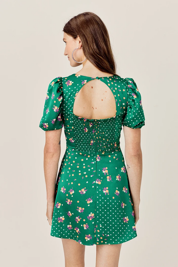 FOR LOVE & LEMONS - CYPRESS MINI DRESS - PINE