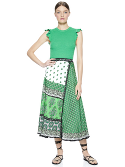 Alice & Olivia - Lamara Pointelle Top - Jade
