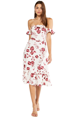 Misa - Oona Dress - Abstract Peony