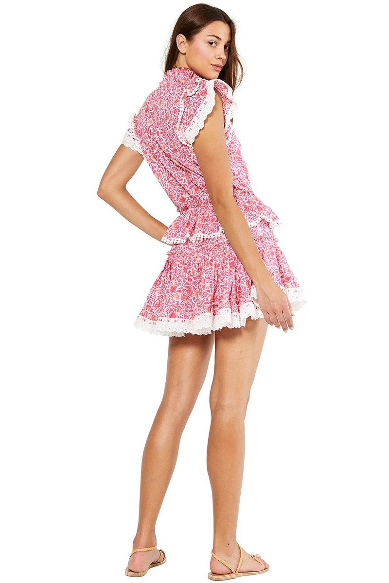 MISA - LILIAN DRESS - PINK ANIMAL FLORAL