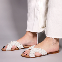 Mystique - Pearly Sandal - White/Pearl