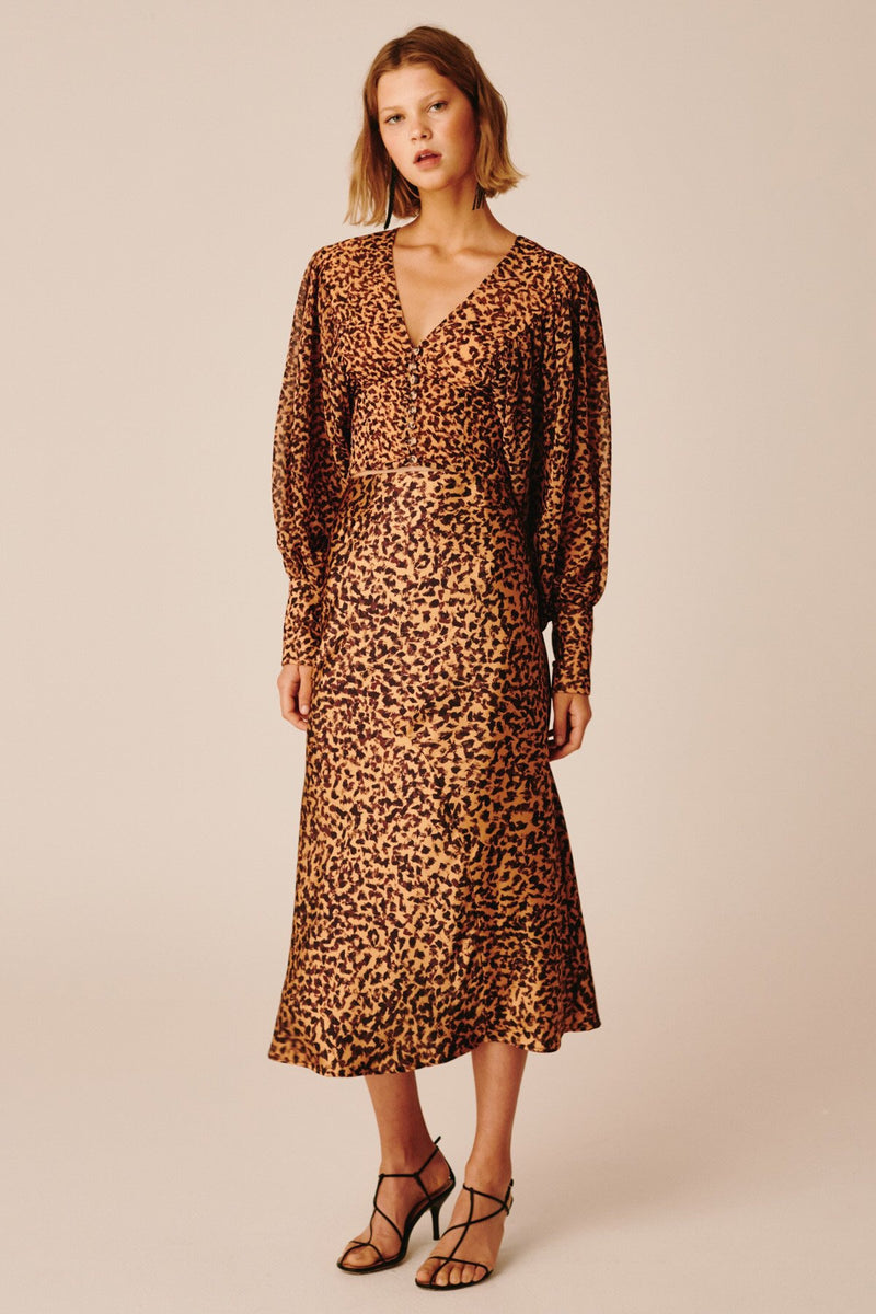 C/ MEO Collective - Apparent L/S Dress - Mustard Painted Spot