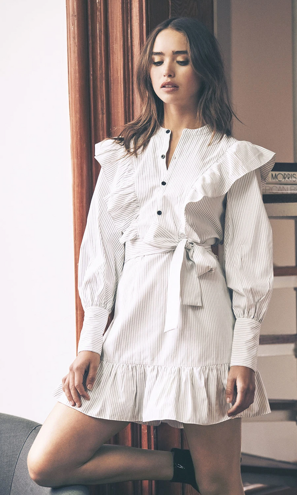 SAYLOR - DOTTIE SHIRTING DRESS - STRIPE