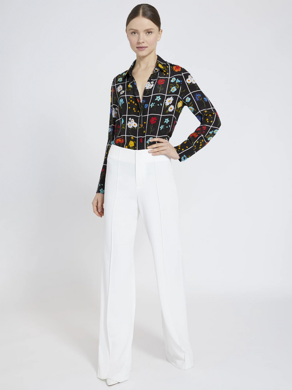 Alice + Olivia - Willa Placket Floral Blouse - Botanical Card