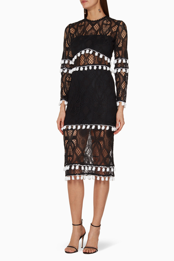 Alexis - Callie Dress - Black Lace