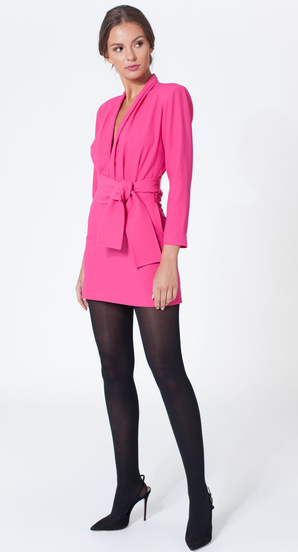 Karina Grimaldi - Benjamin Solid Mini Dress - Pink