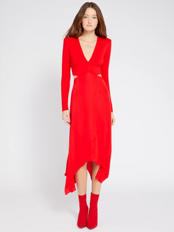 Alice + Olivia - Temika Cutout Midi Dress - Paprika