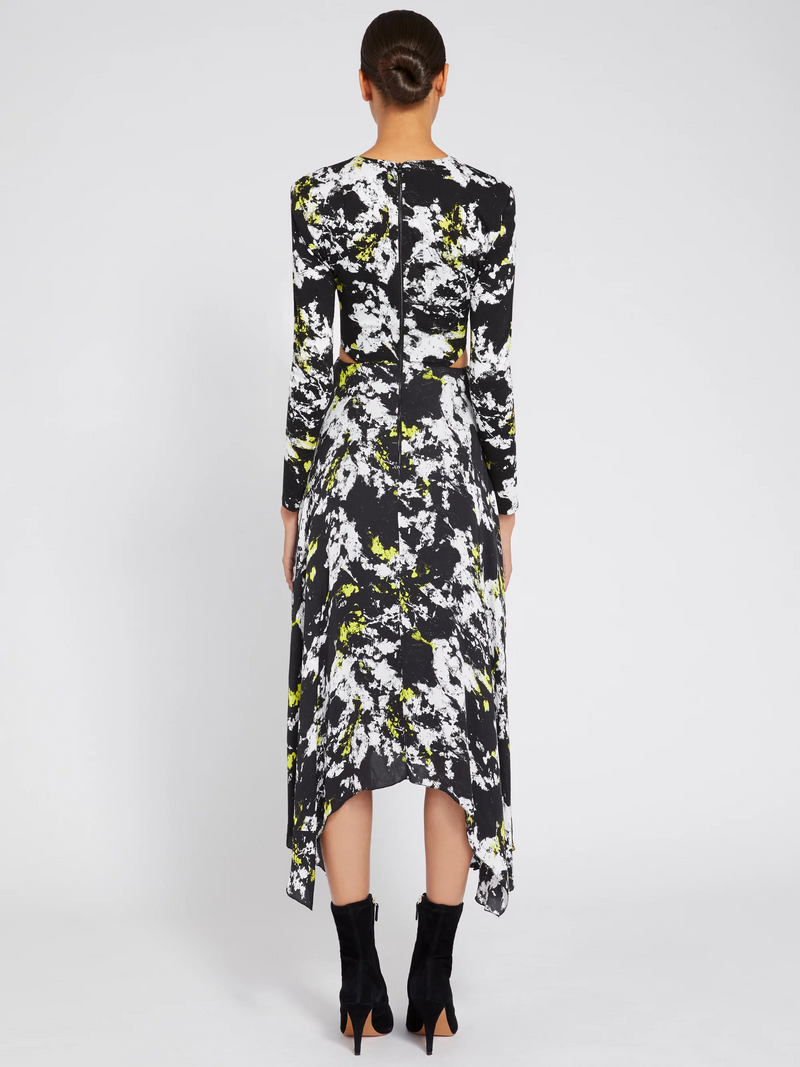 Alice + Olivia - Temika Cutout Midi Dress - Divine Opal