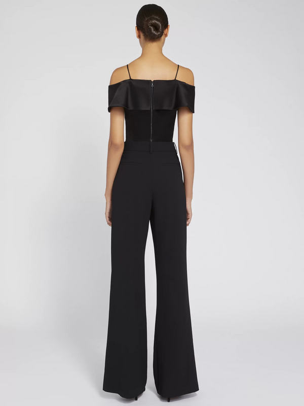 Alice + Olivia - Haydee Cold Shoulder Crop Top - Black