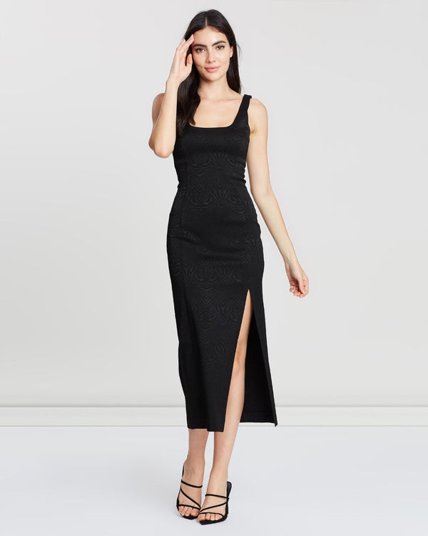 Bec & Bridge - Ze'bre Midi Dress - Black
