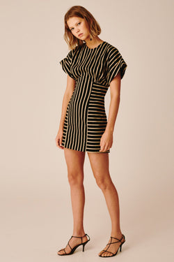 C/ MEO Collective - High As Hope S/S Dress - Black Stripe