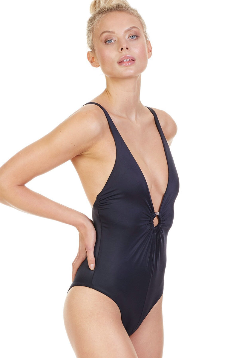 Tori Praver Swim - Maxime One Piece - Black