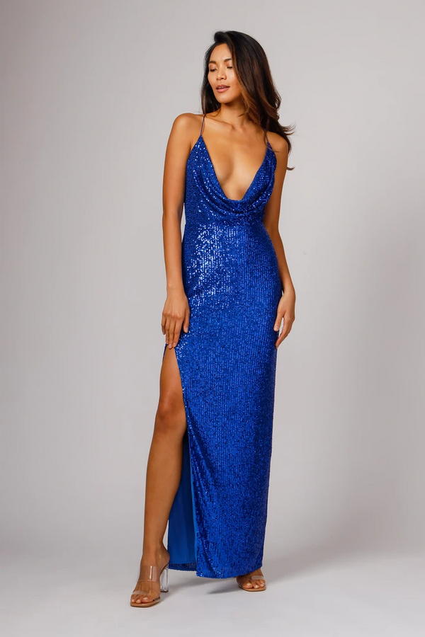 Jay Godfrey - Milena Dress - Royal Sequin