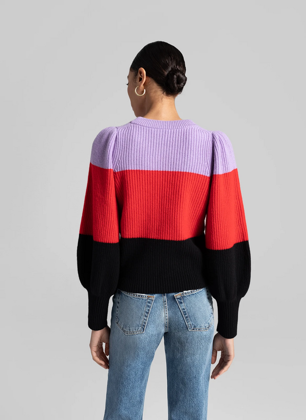 A.L.C. - Sammy Sweater - Wisteria/Red/Black