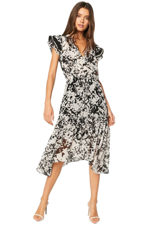 Misa - Della Dress - Black Floral