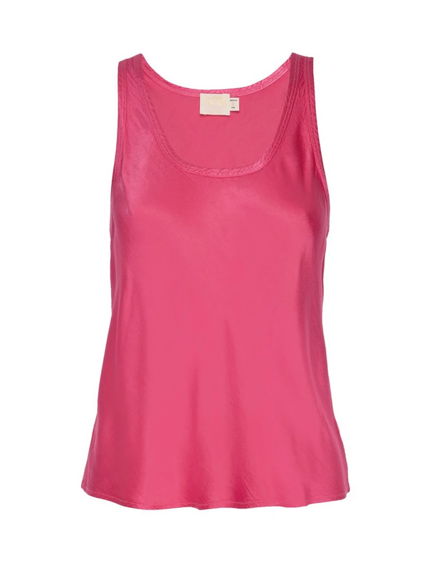 Nation LTD - Lisette Bias Cut Tank - Bubblegum