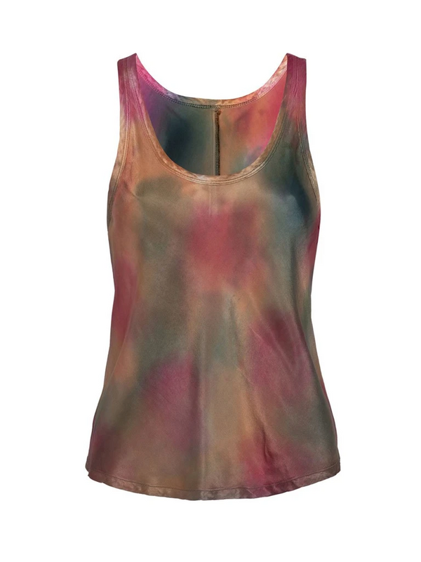 Nation LTD - Lisette Bias Cut Tank - Tie Dye