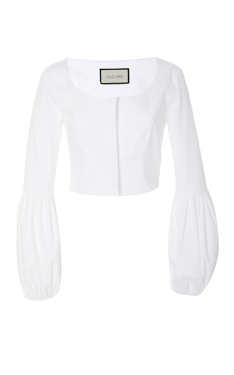 Alexis - Ottera Scoop Top - White