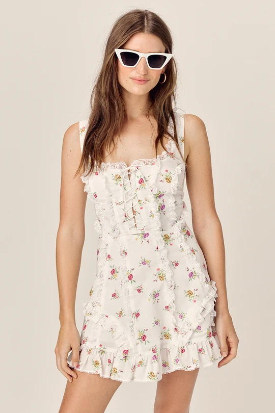 For Love & Lemons - Wildflower Mini Dress - Ivory