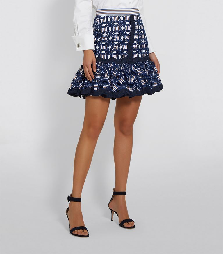 Alexis - Shelia Skirt - Embroidered Stripes