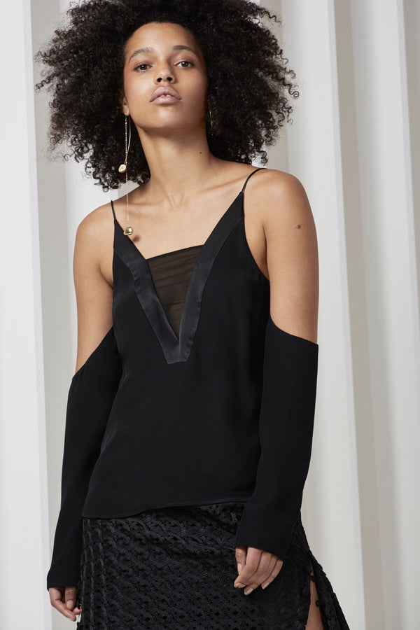 C/ MEO Collective - Vivid Long Sleeve Top - Black